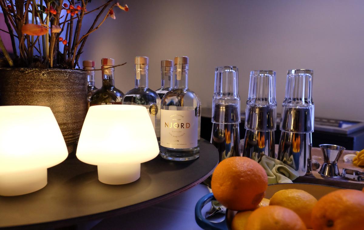V-Bar på Comwell: Ginmakers Dinner med Njord Gin