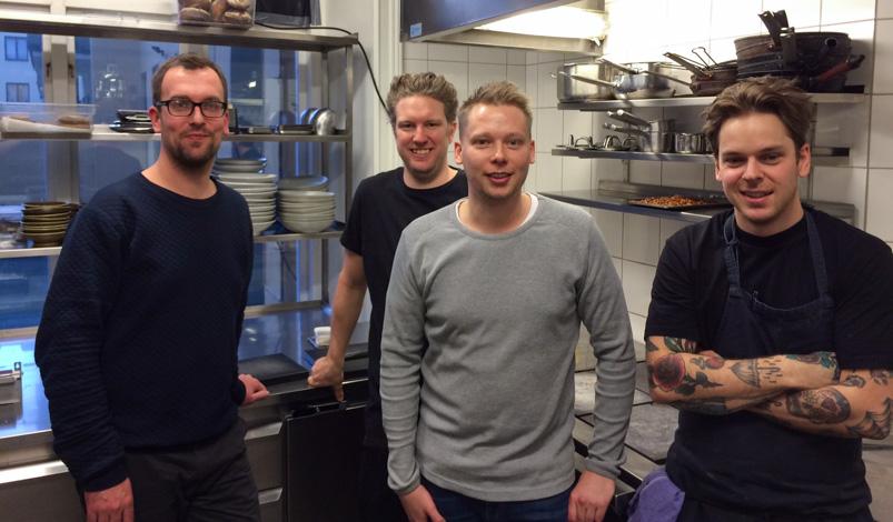 Nordisk Spisehus' køkkenchefer pa- besøg hos Restaurang Volt i Stockholm