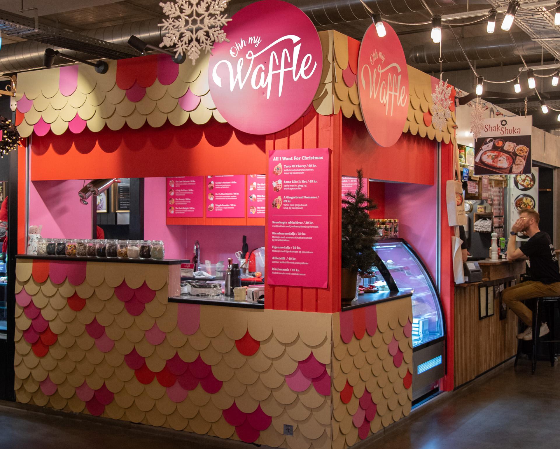Ny vaffelbod: Ny vaffelbod: Ohh my Waffle er åbnet på Aarhus Central Food Market