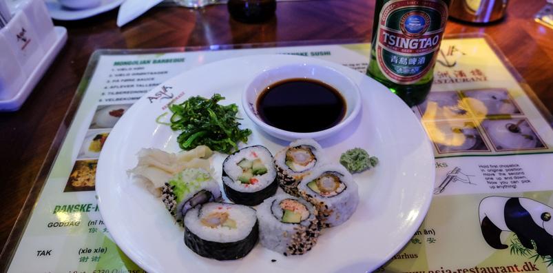 Lidt blandet på Asia Restaurant i Viby