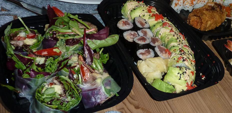 Oksekød i rispapir fra A+ Siam Sushi i Aarhus