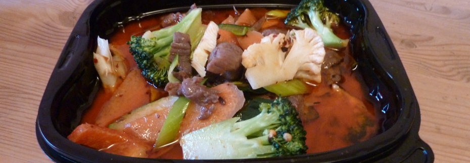 Oksekød med rød karry fra Kung Fu Express