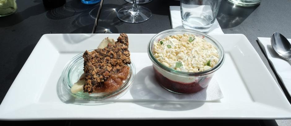 Ost og dessert på Restaurant Unico i Højbjerg