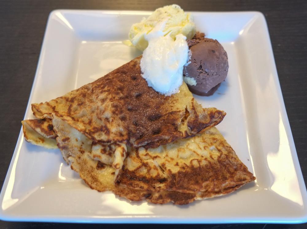 Pandekager med is fra Café Cille