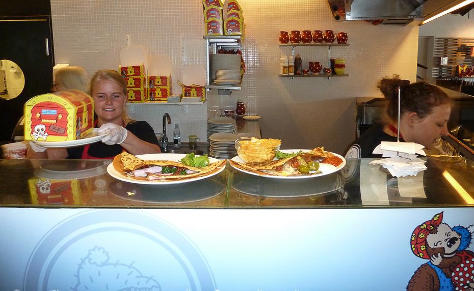 Pandekager på Rasmus Klump restauranten i Aarhus