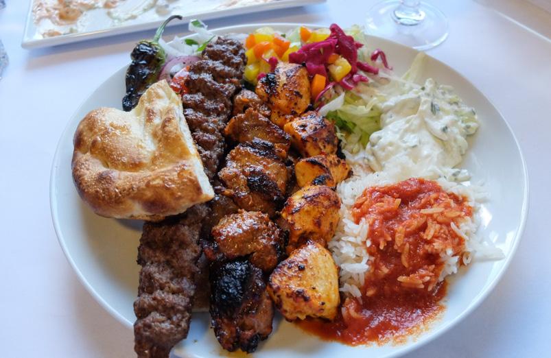 Pashas grillmix hos Pasha - Restaurant & Café_