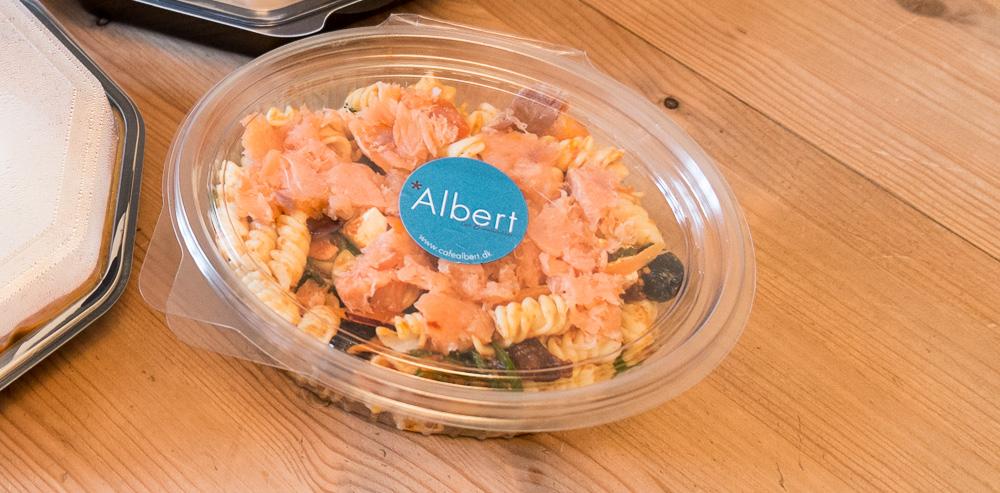 Pasta med røget laks fra Café Albert