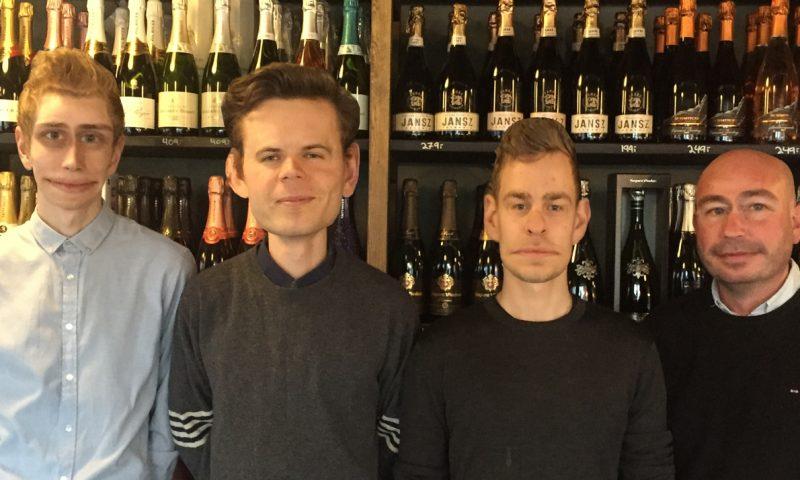 FOTO: Pinots team bestående af Lars, Nicklas, Anders og Lars er alle selvskrevet til smagningen