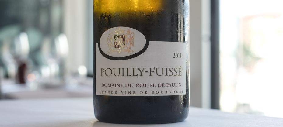 Pouilly-Fuissé fra Domaine du Roure de Paulin i Bourgogne på Restaurant ET