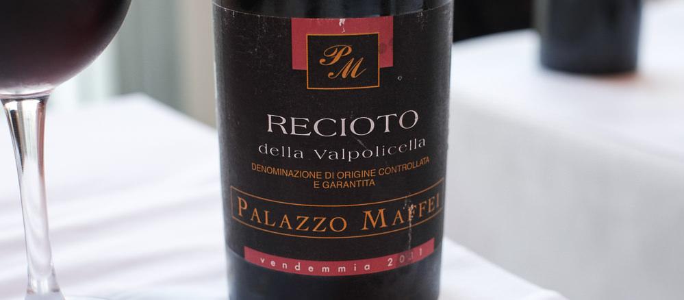 Recioto Della Valpolicella, Palazzo Maffei på Restaurant Fedet i Risskov