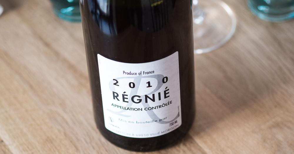 Régnié 2010 på Restaurant Pondus