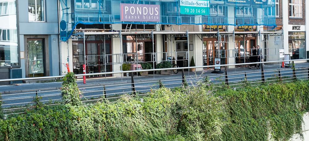 Restaurant Pondus ved åen i Aarhus