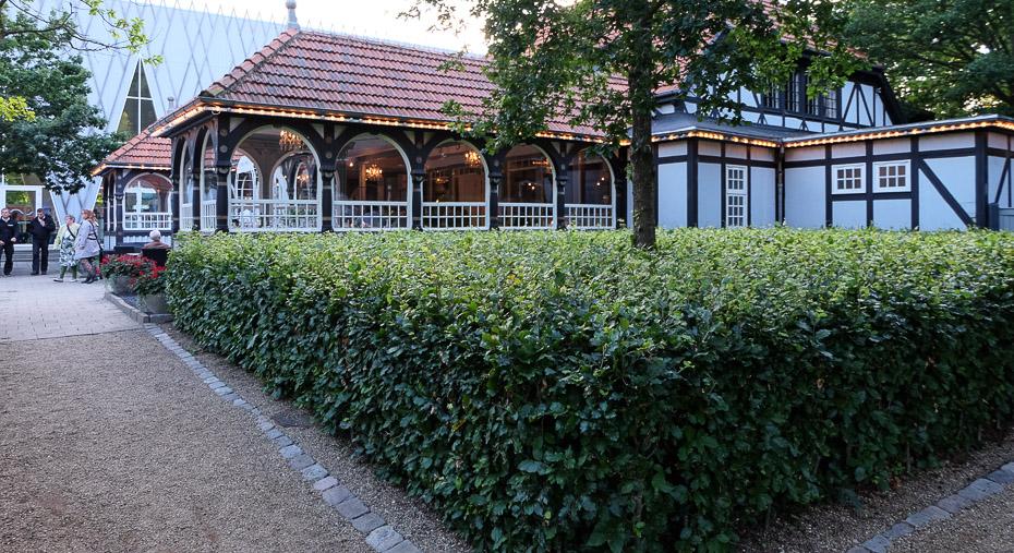 Restaurant Terrassen i Friheden en sen sommeraften