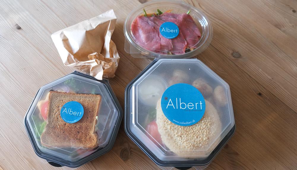 Sådan kom vores takeaway fra Café Albert