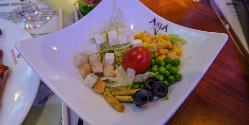 Salat fra buffeten på Asia Restaurant i Viby