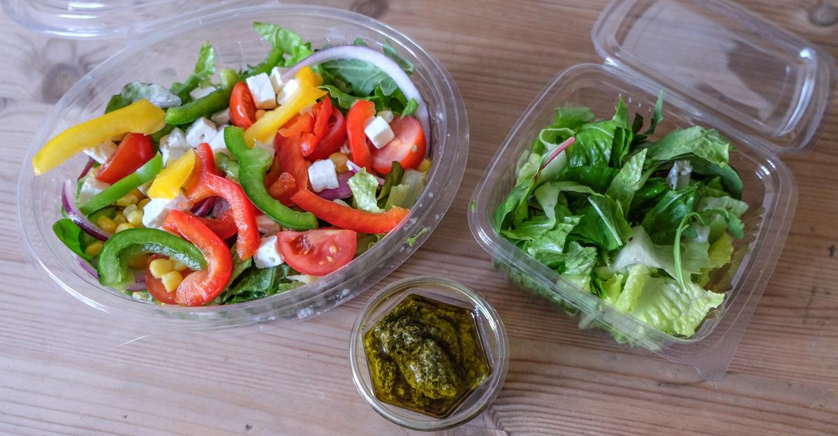 Salaten fra Byens Burger