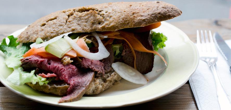 Sandwich med Roastbeef hos Langhoff og Juul