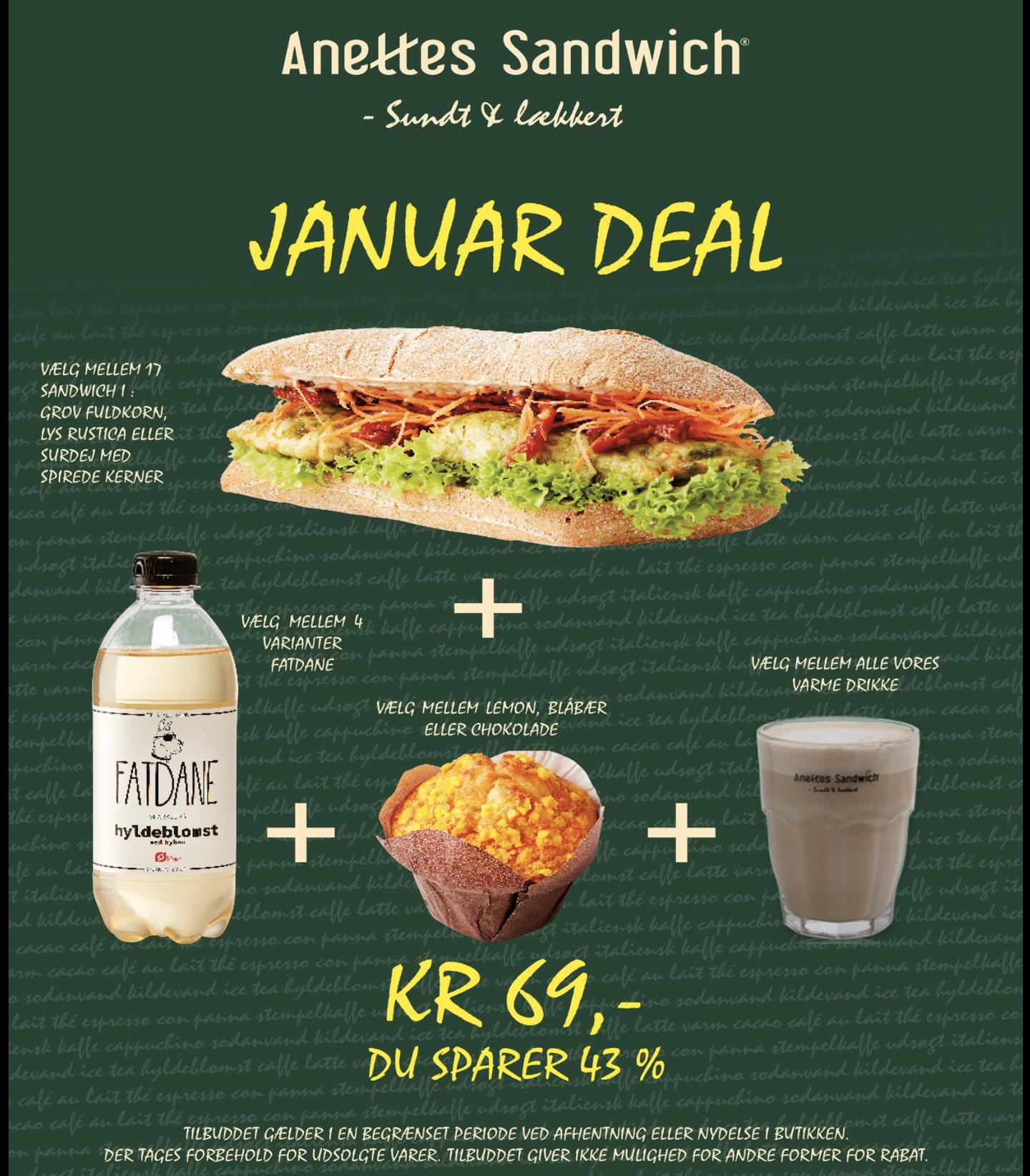 43% rabat: Aarhusiansk sandwichkæde sænker priserne på takeaway