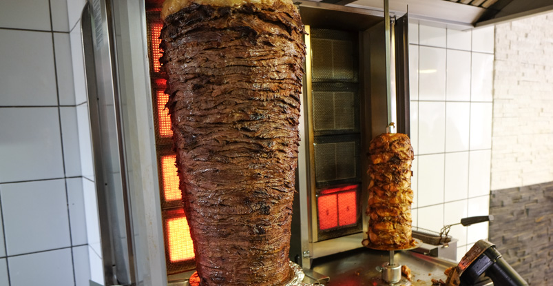 Smuk kød på Royal Shawarma Bar i Ryesgade