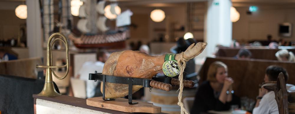 Smuk skinke på Restaurant Flammen i Aarhus