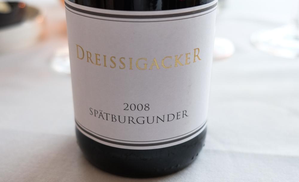 Spätburgunder 2008, Dreissigacker, Rheinhessen på Restaurant Varna