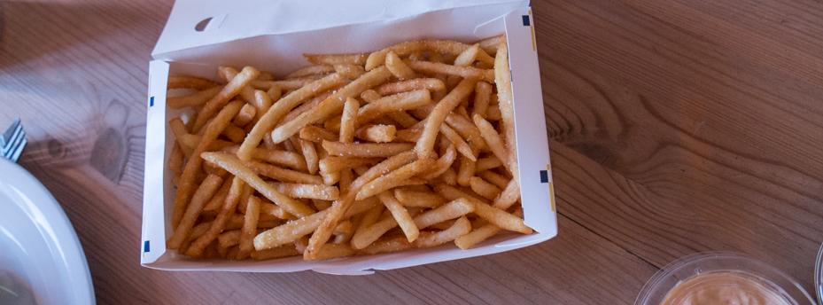 Sprøde og kolde fritter fra Burger Hut