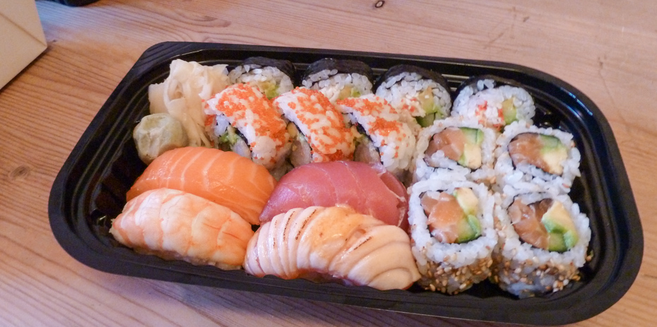 Sushi fra Kung Fu Express