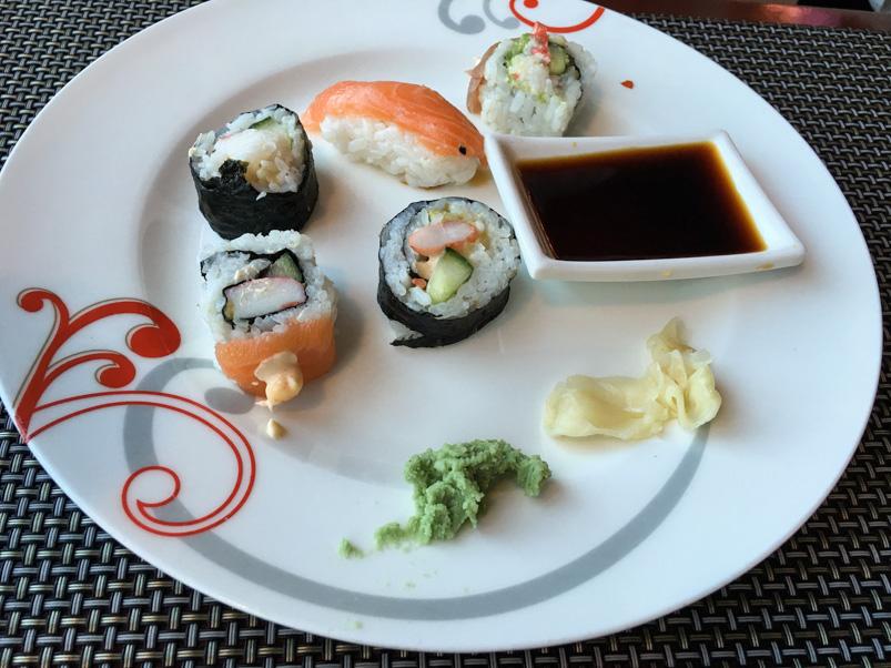 Sushi hos Restaurant Vinde i Hasle