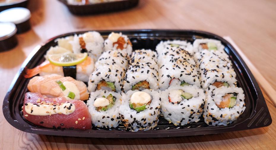Sushi til en person fra Teriyaki Sushi
