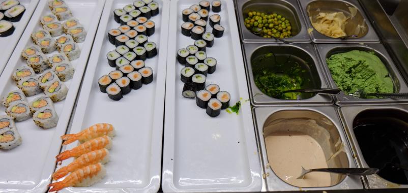 Sushibaren på Asia Restaurant i Viby-2