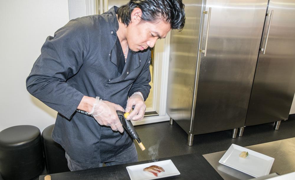 Sushikok hos SushiSushi i Mejlgade
