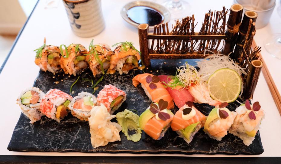 Sushiserveringen hos A+ Siam Sushi i Skolegade
