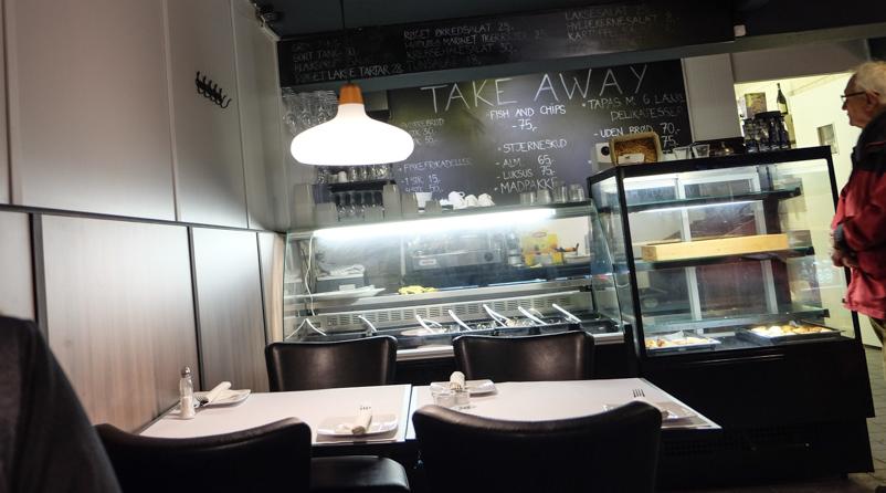 Takeawayafdelingen hos City Café i Aarhus_