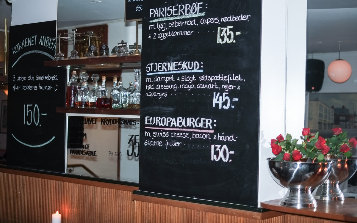 Tavlen på Restaurant Europa i Aarhus