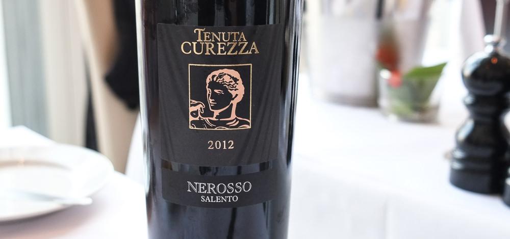 Tenuta Curezza Nerosso 2012 på Restaurant Fedet i Risskov