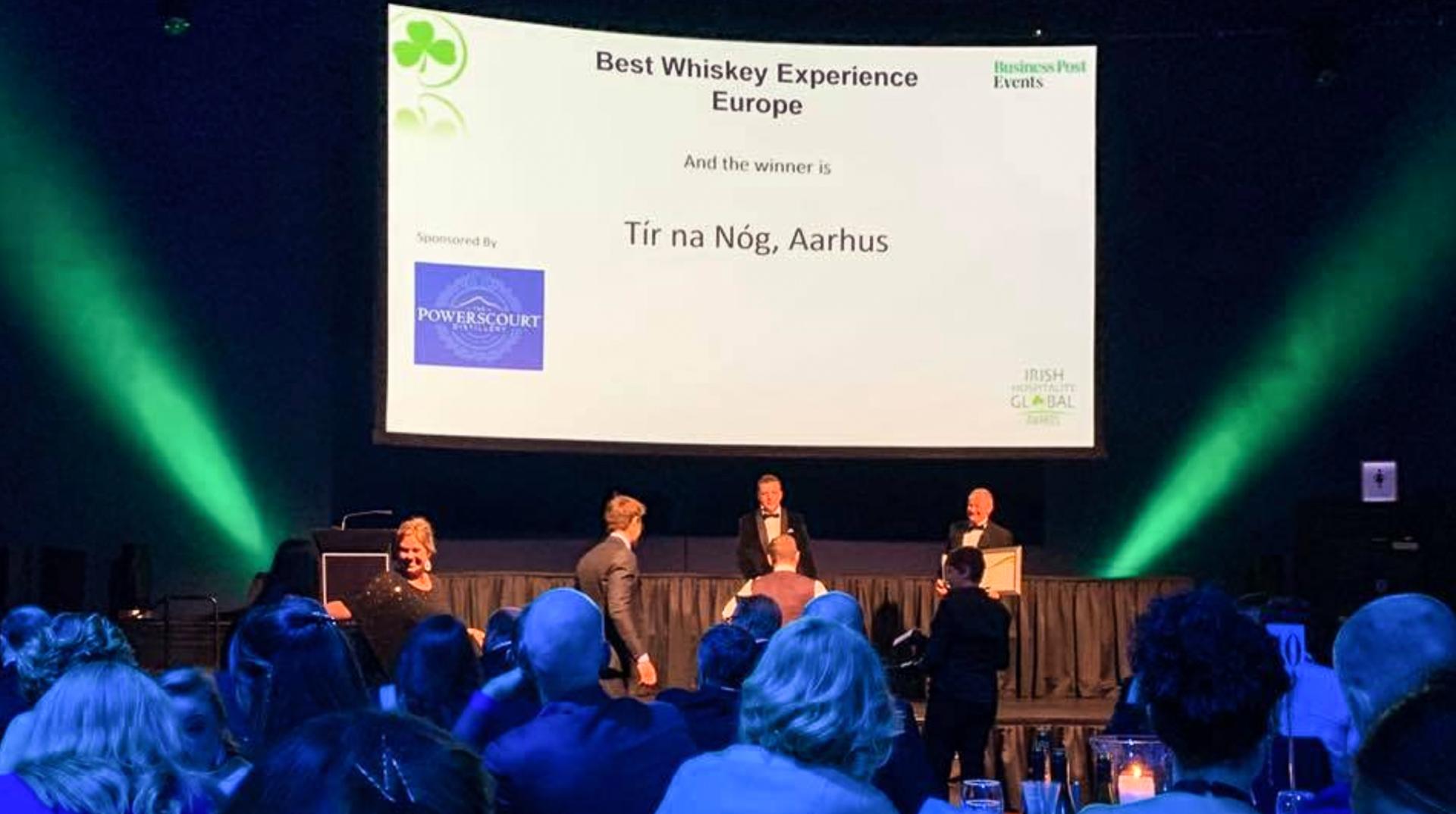 """Bedst i Europa: Tir Na Nóg vinder prisen for """"Den bedste irske whiskey-oplevelse"""""""