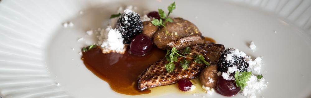 Vagtel og stegt foie gras på Malling Kro
