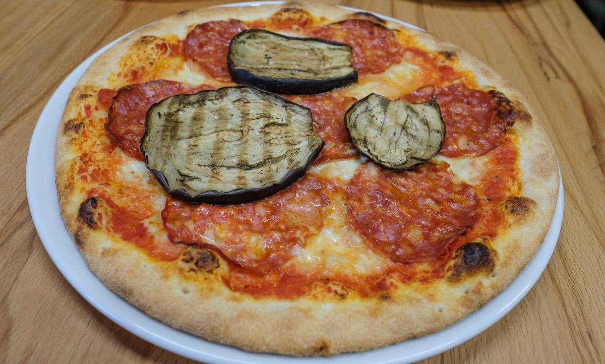 Ventricina pizza hos Adagio ved åen - Aarhus Update