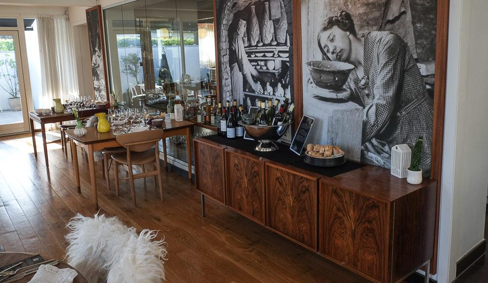 Vinbordet hos Kählers Villa Dining