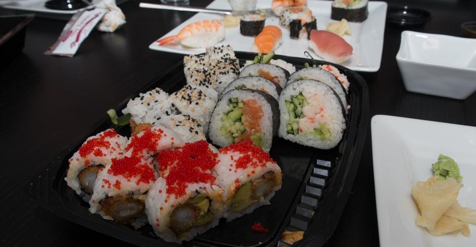 Voldsom sushi fra Sino Sushi i Viby