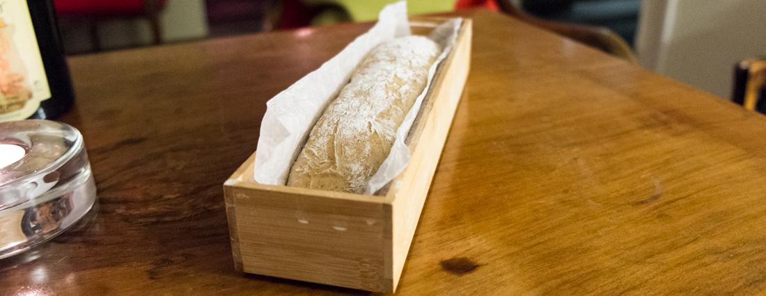 Vores brød er klar til en tur i ovnen på Norsminde Kro