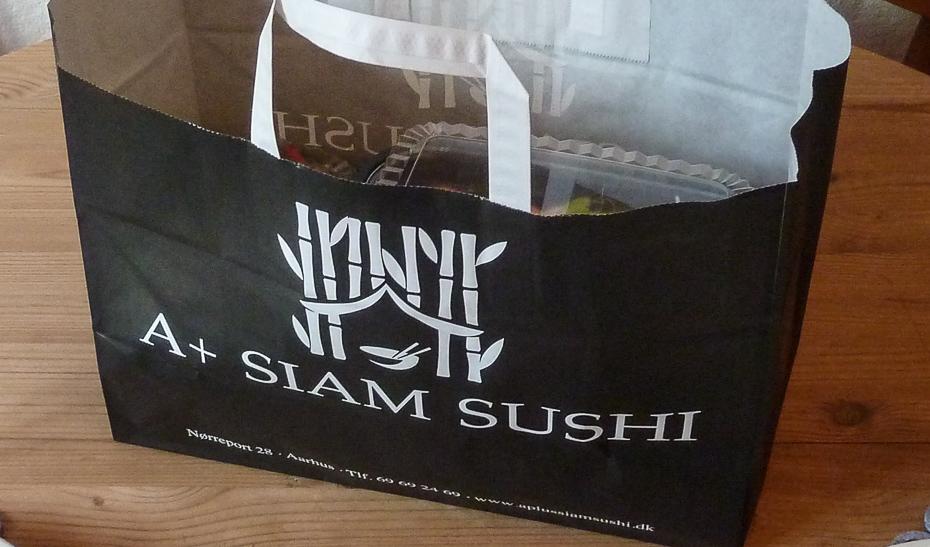 Vores sushi fra A+ Siam Sushi i Aarhus