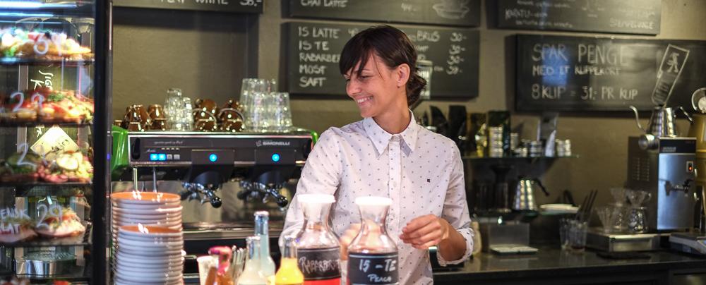 Vores yndlingsbarista på Sigfreds Kaffebar i Ryesgade_