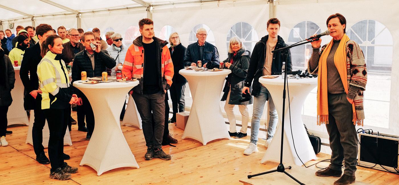 Aarhus K skyder op: Nyt boligbyggeri har nået fuld højde