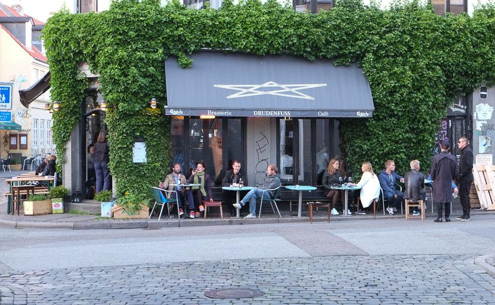 Café Drudenfuss i Latinerkvarteret
