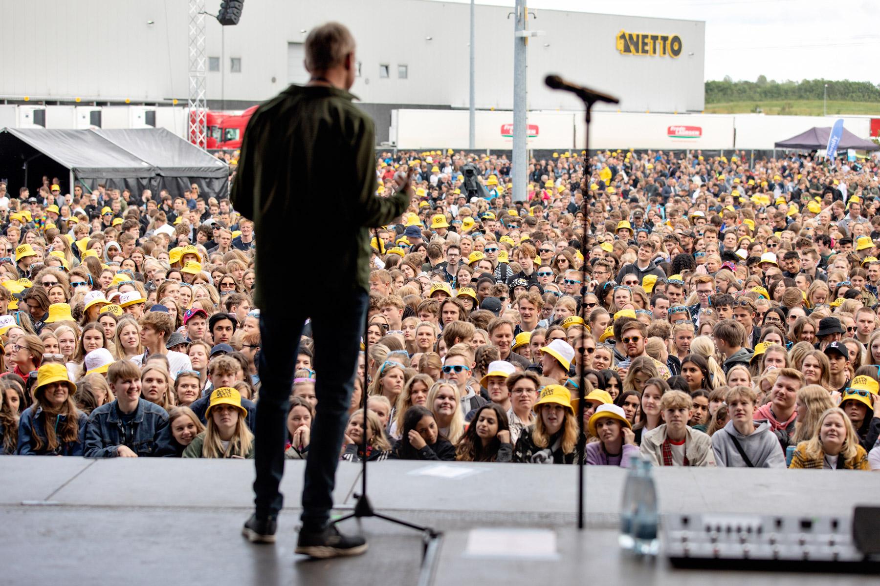 Overskudsmad fra Danmarks største firmafest går til udsatte borgere