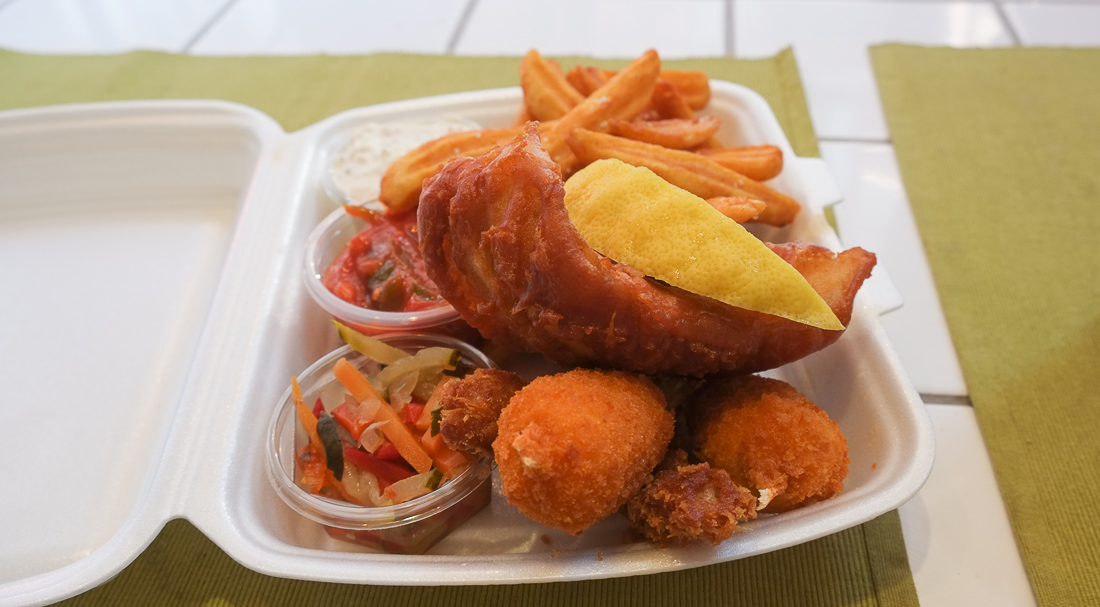 fish'n'chips hos Kokkens Fisk og delikatesser