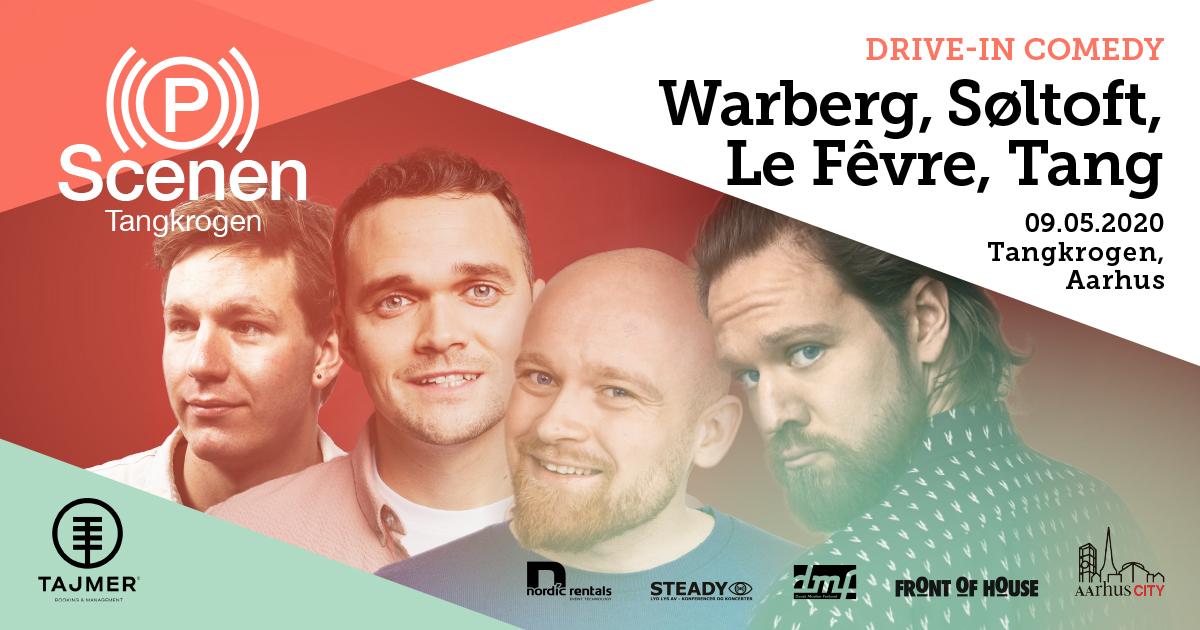 DRVE-IN COMEDY i Aarhus:Thomas Warberg, Ruben Søltoft, Mark Le Fêvre og Simon Tang