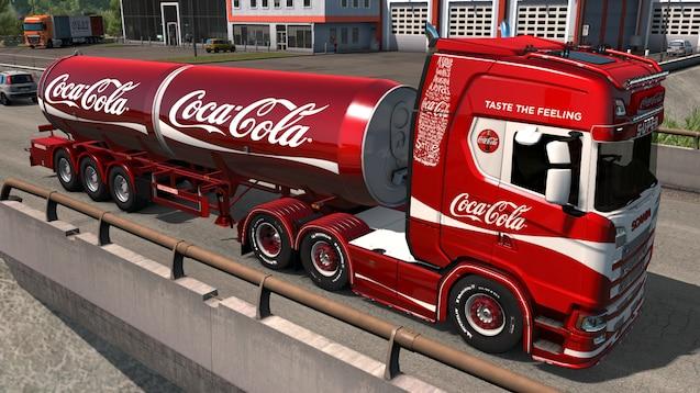 OBS - billedet er et arkivfoto af en Coca-Cola bil