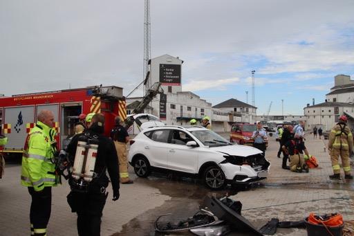 Dramatisk episode i Aarhus Havn: Bil kørte i havnen